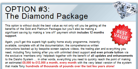 diamond daisho package