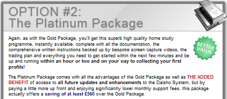 platinum daisho package