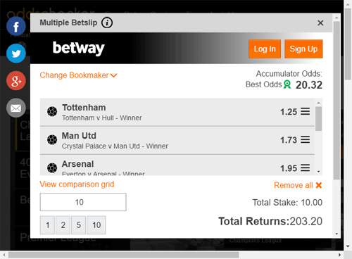 oddschecker betting slip