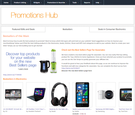 amazon promotions hub